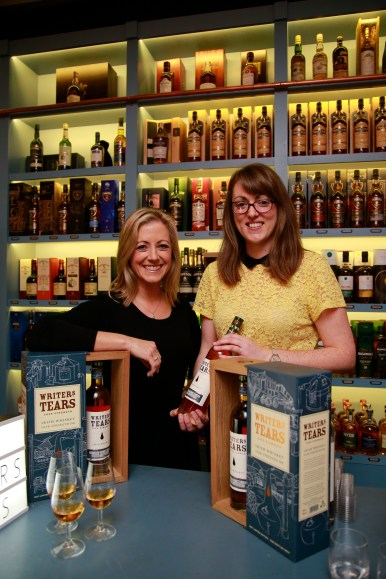 19/10/2017 - Walsh Whiskey Launch at L. Mulligan's Whiskey Shop at the Powerscourt Centre. Pictured were Denise Flynn and Clare Minnock. Photograph Nick Bradshaw
