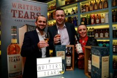 19/10/2017 - Walsh Whiskey Launch at L. Mulligan's Whiskey Shop at the Powerscourt Centre. Pictured were Shane Fitzharris, Maurice Conway and Suzi Flavin. Photograph Nick Bradshaw