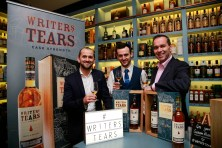 19/10/2017 - Walsh Whiskey Launch at L. Mulligan's Whiskey Shop at the Powerscourt Centre. Pictured were Shane Fitzharris; Mark McLaughlin and John Kelly. Photograph Nick Bradshaw