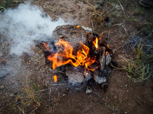Dung Camp Fire