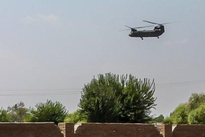 US Chopper - outside Jalalabad