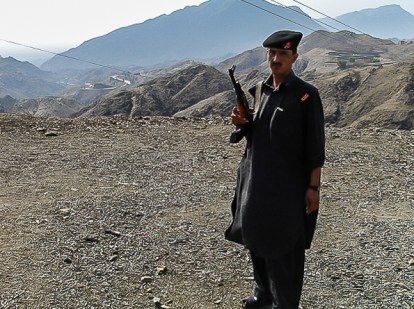 Pakistani Policeman - Khyber Pass
