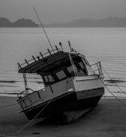 Boat on the beach - Koh Phayam, Thailand