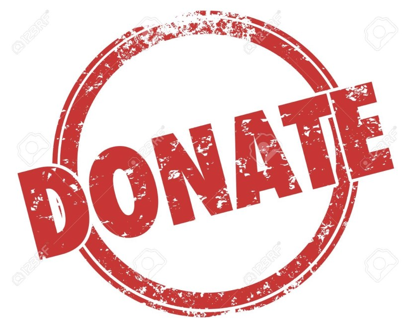 A big donation button