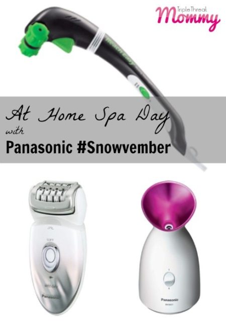 At Home Spa Day with Panasonic #Snowvember