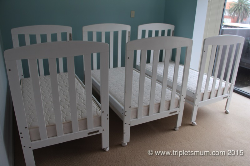 triplets cribs
