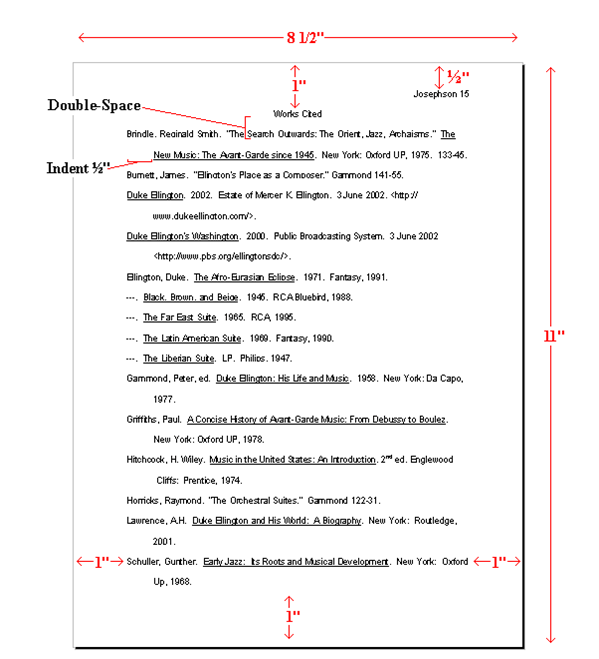 proper mla format research paper