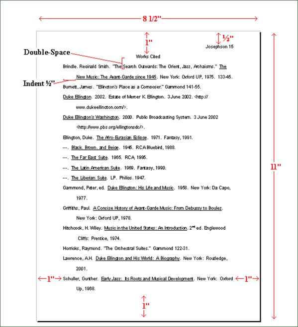 Bibliography Sample Mla