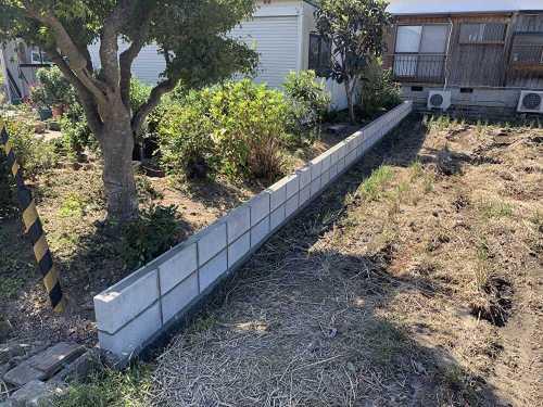 ブロック塀施工完了