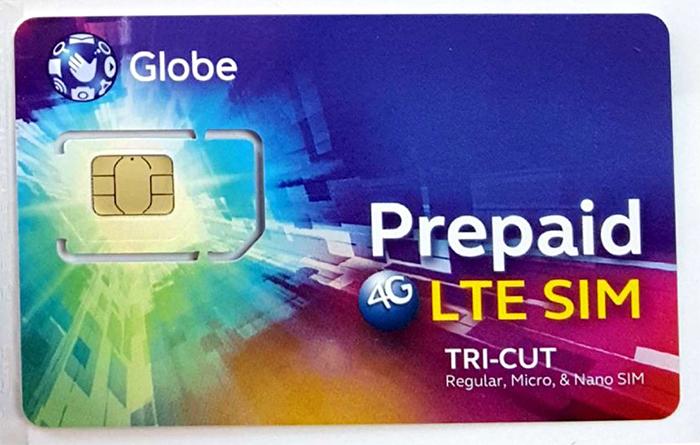 Globe電話卡   Globe-Prepid-SIN卡