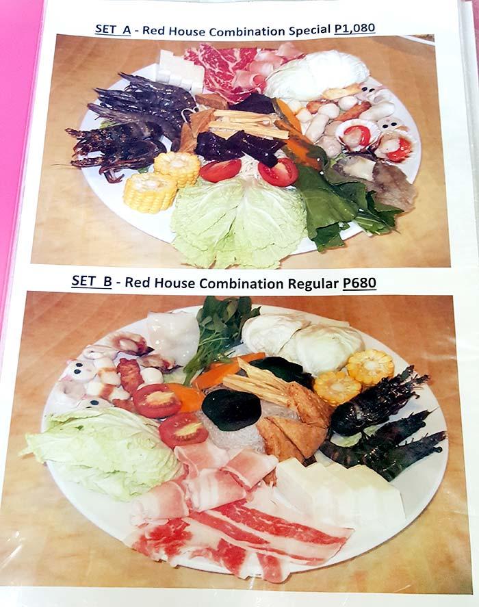 紅樓火鍋菜單,菜盤,菜色,價位