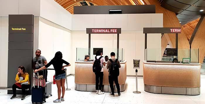 Terminal fee, 離境稅費用, 最新, 披索850元