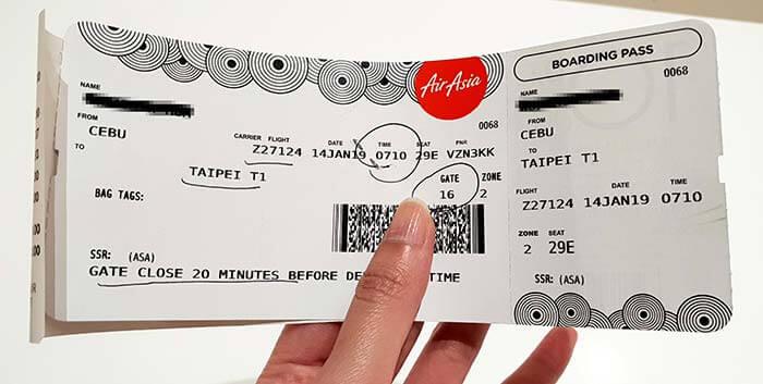 菲律賓亞洲航空, 注意事項, 飛機, 機場, 航廈, 機票