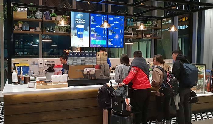 宿霧機場內的咖啡店
