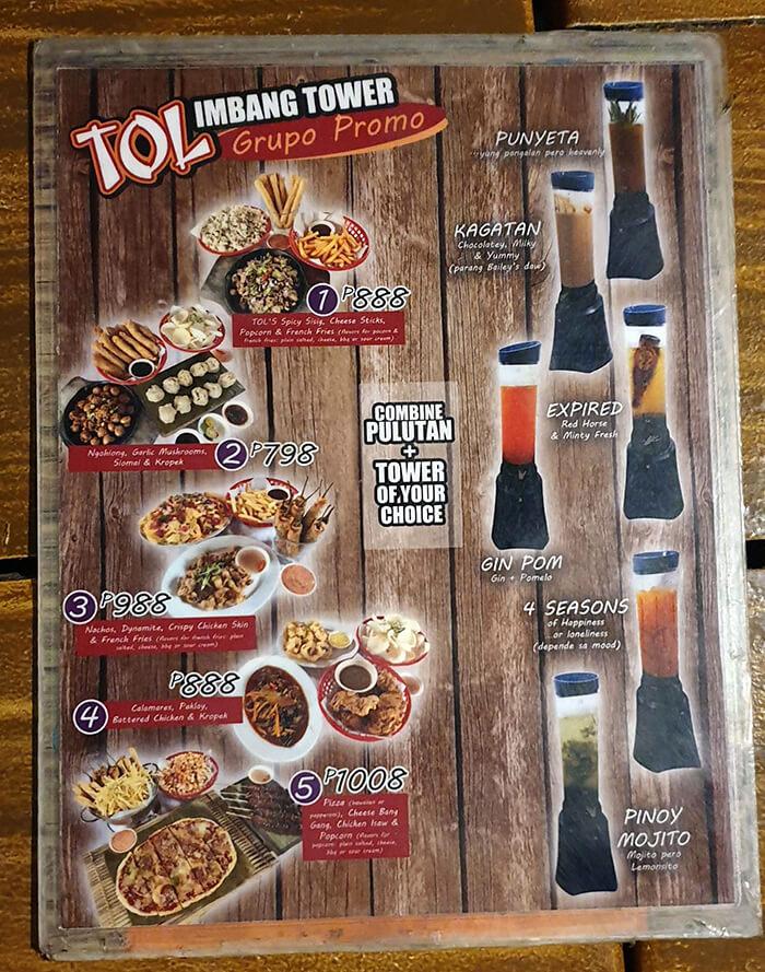 TOL 菜色, 調酒, 酒類,拼盤