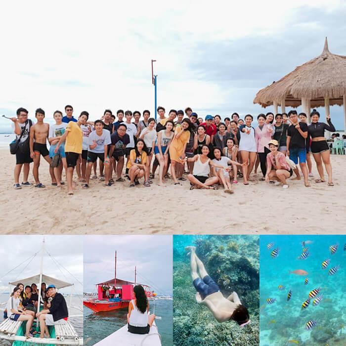 暑假遊學團假日活動, 假日跳島, 宿霧跳島, 宿霧浮潛