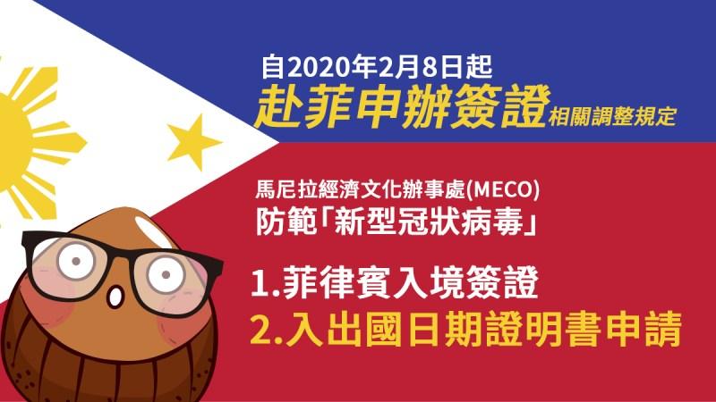 菲律賓入境簽證, 如何申請入出國日期證明書