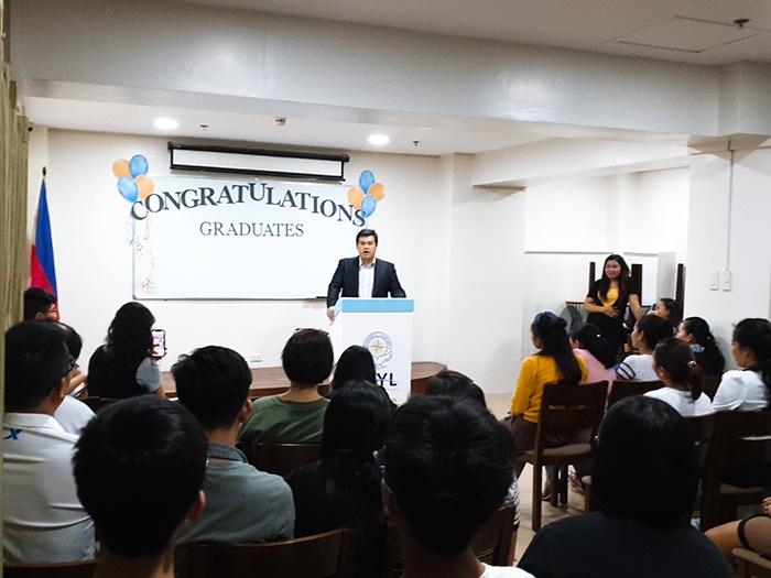 WYL國際語言學校畢業典禮, 校長致詞