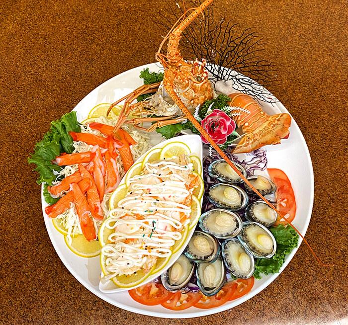 龍蝦胞魚盤