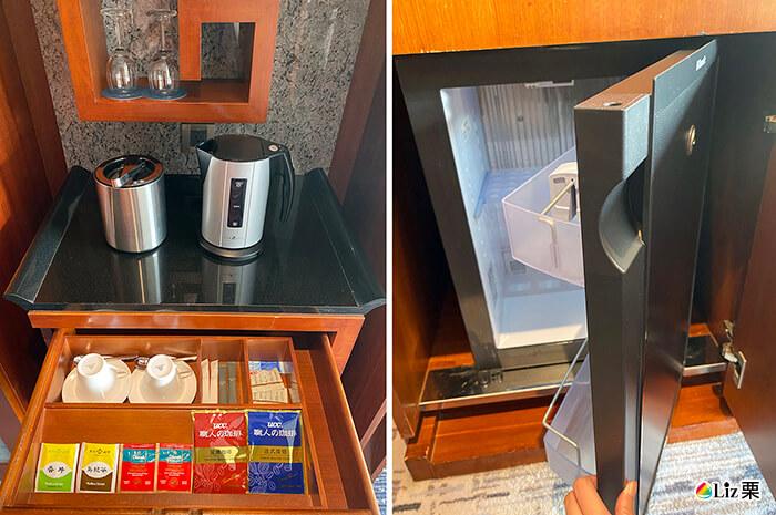 茶包,咖啡包,電熱瓶,冰箱