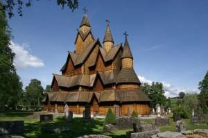 Stave Church, Heddal, Norway