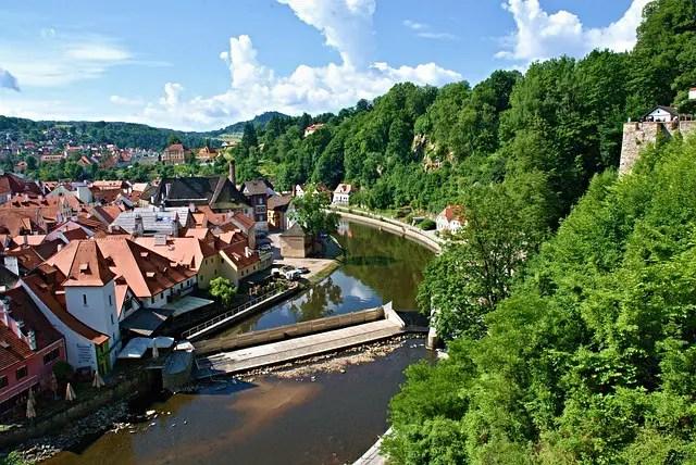 Cesky Krumlov, a town by the Vltava river