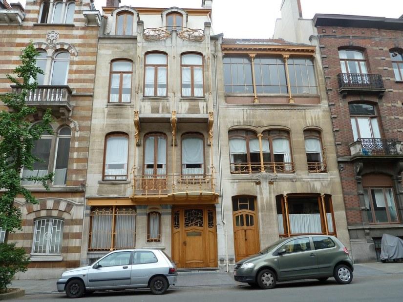 outside Victor Horta's house