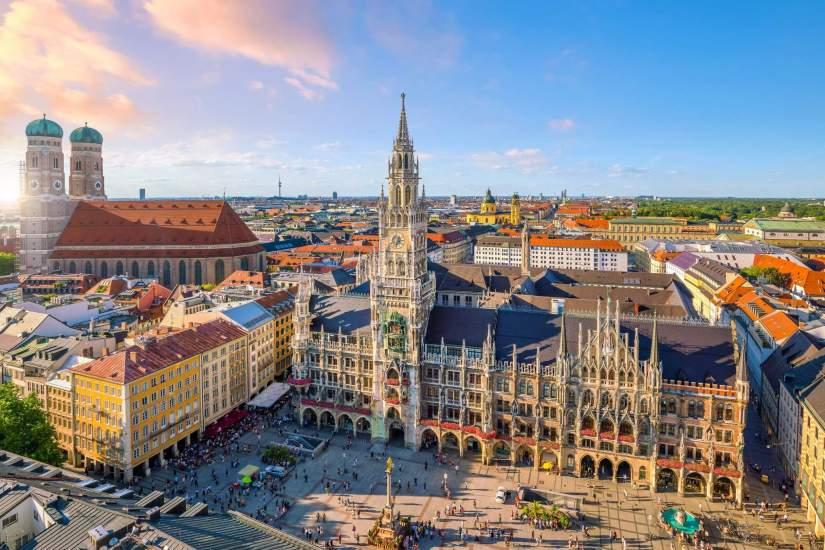 Marienplatz at Munich center
