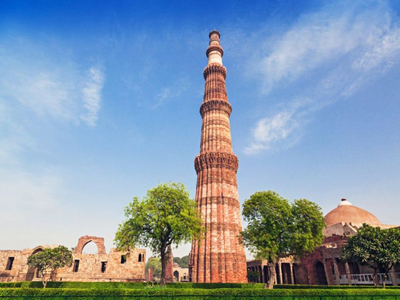 in front of Qutub Minar