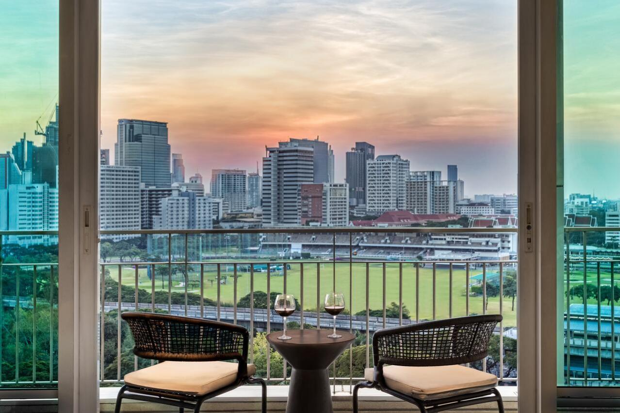 Bangkok city view from the balcony's hotel