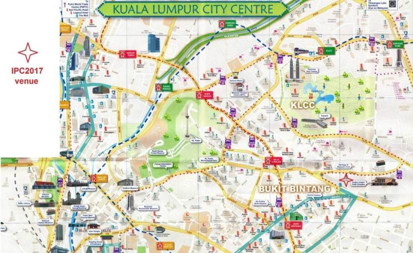 map of Kuala Lumpur city center