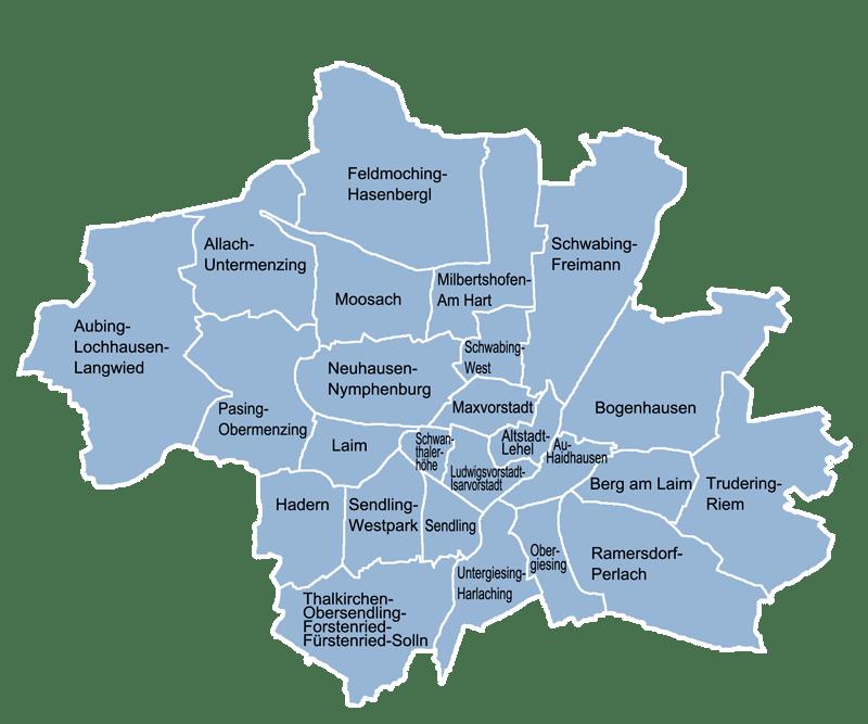 map of Munich city center