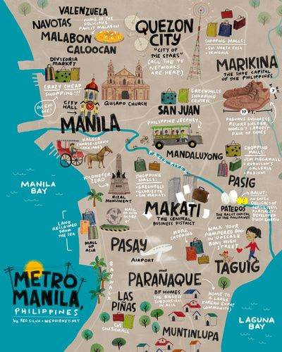 map of central Manila
