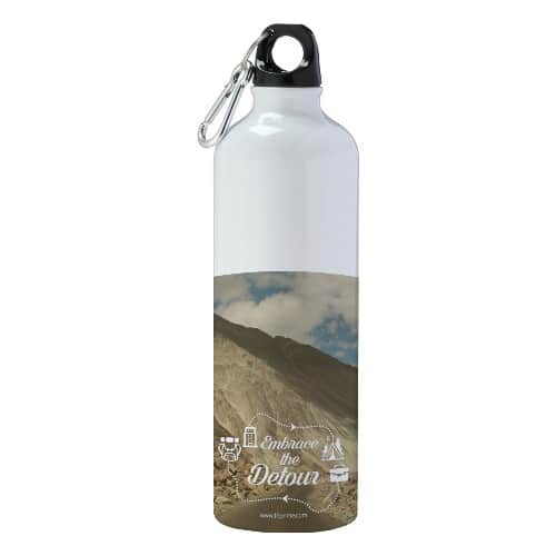 Flask with embrace-the-detour-mountain