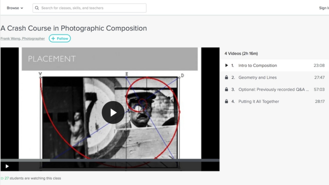 Skillshare Photography Composition online course review