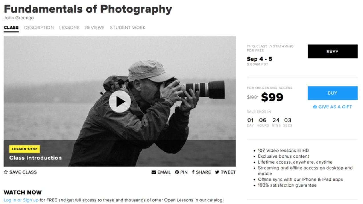 Creative Live: Fundamentals Of Photography best online photography course