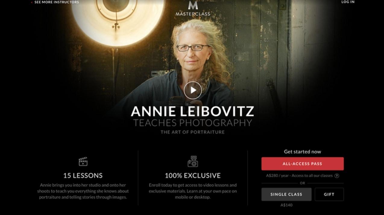 Annie Leibovitz Master Class photography online