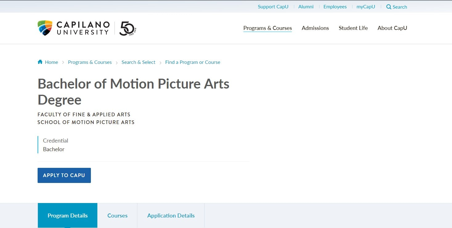 Capilano University School of Motion Picture Arts