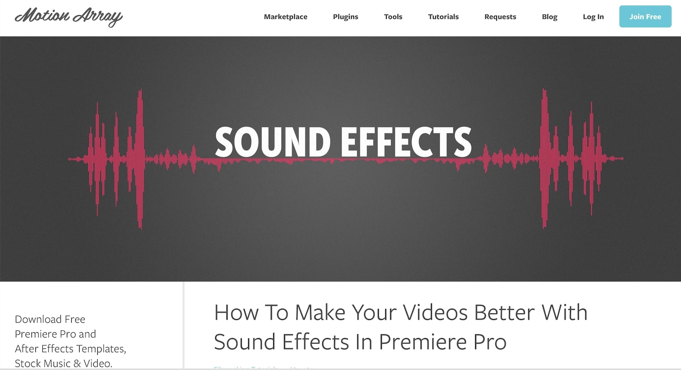 How To Make Your Videos Better With Sound Effects In Premiere Pro