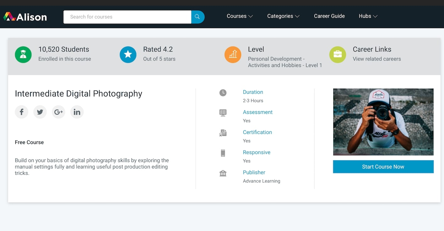 Top 7 Best Free Online Photography Courses With Certificates