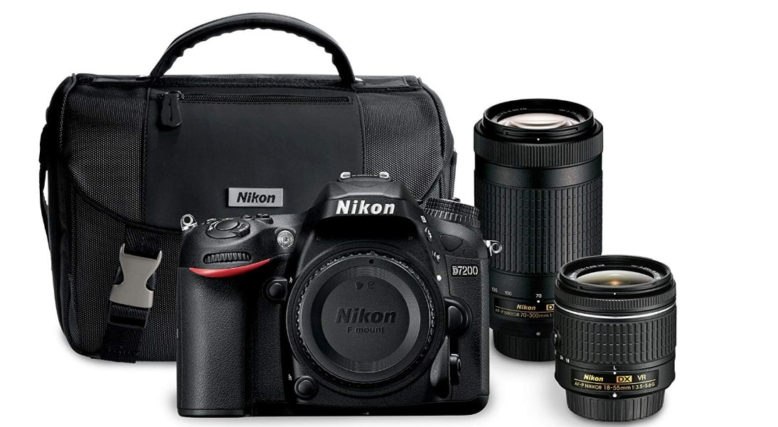 """Nikon D7200 24.2 MP Dual Zoom Lens Kit with 3.2"""" LCD, Black Review"""