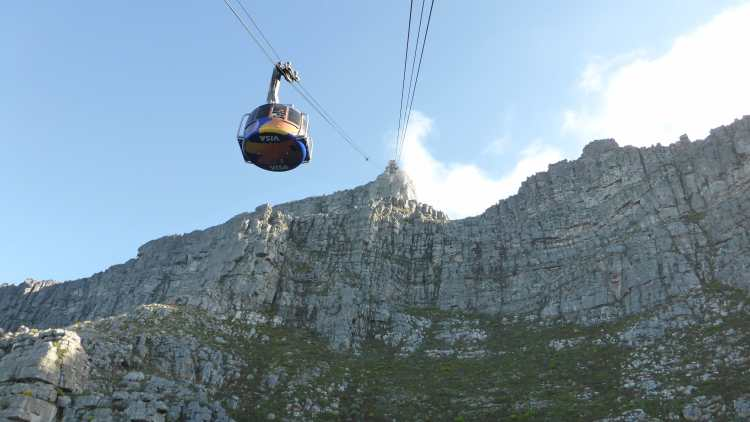 Cablecar for Table Mountain, Cape Town, South Africa