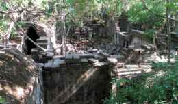 Overlooking Beng Mealea Temple outside Siem Reap, Cambodia.