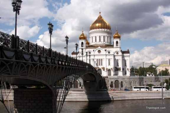 Christ the Savior Cathedral in Downtown Moscow, Russia
