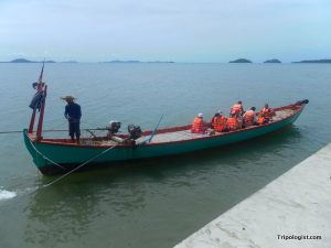 The boat to Koh Tonsay. The requirement to wear life jackets both reassured me and made me nervous.