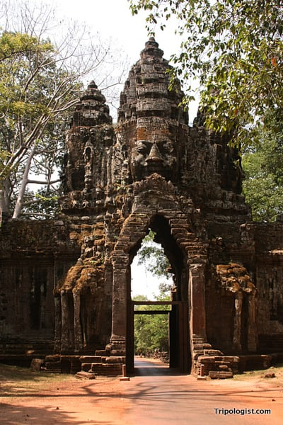 One of the entrance to the Angkor Thom temple complex near Siem Reap, Cambodia.