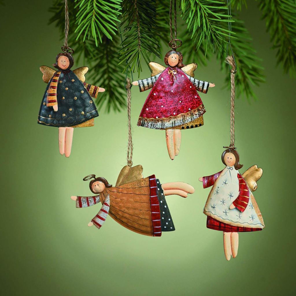 Fun Express Dancing metal angels, Outdoor Christmas Tree Decorations