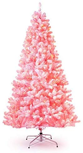 Best Artificial Christmas Trees, KING OF CHRISTMAS 6.5 ft Pink flock tree