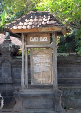 Outside Candidasa Temple