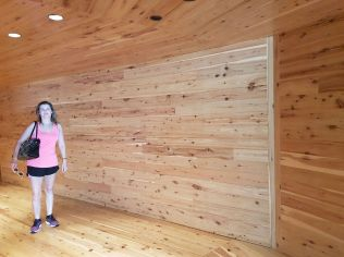 Wooden passageway from Macq01 Hotel to Cinnamon Restaurant